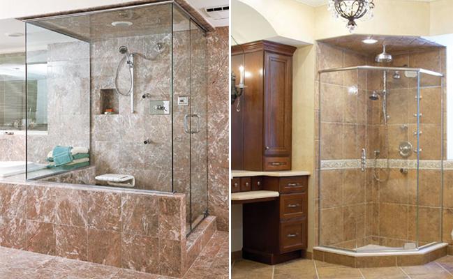 custom glass doors for showers.  AMG Shower Doors NJ Custom Frameless Glass